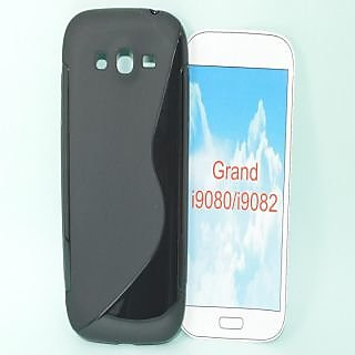 TOTTA S-Line Silicone Back Case for  Samsung Galaxy Grand I9080-BLACK