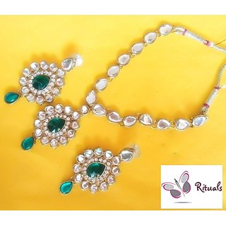 Exclusive Designer Kundan Gold Plated Necklace Set