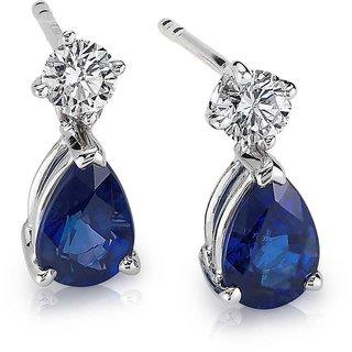 Designer White And Blue Earing