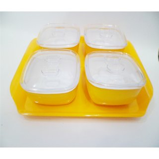 Charvi Air Tight Bowls Yellow