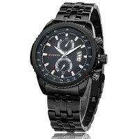 Curren Men's Stainless Steel Quartz Wrist Watch Black
