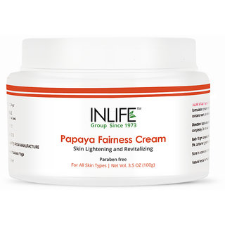 INLIFE Natural Papaya Fairness Moisturizer Cream (100 gm)