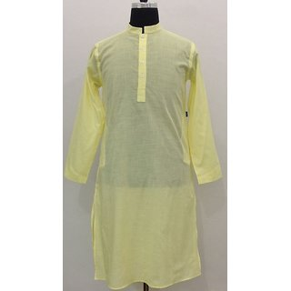 100% Fine Cotton Men's Kurta -Slim Fit