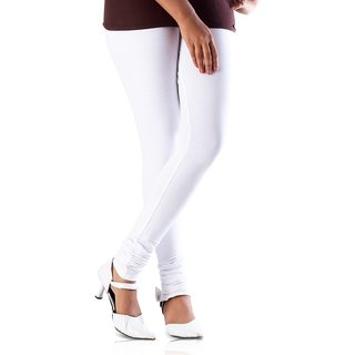 White Stretchable Cotton Legging