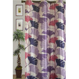 JBG Home Store Beautiful Floral Design Curtain(7 Ft) -Purple