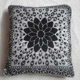 JBG Home Store Velvetee Foral Design Black Cushion Covers ( Set Of 5)