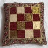 JBG Home Store Velvetee Check Design Cushion Covers ( Set Of 5) - Design 6