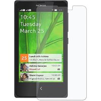Tempered Glass Screen Scratch Protector Guard For Nokia X With Flat Edges(Clear)