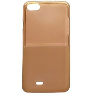 KMS Dual Tone Soft Silicon Back Cover for Micromax Bolt D321 - Brown