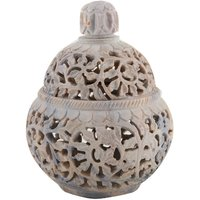 Freshings Gaurara Carved Box Pot Shaped With Round Lid (F-GP-1)