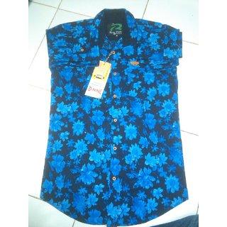 men`s stylish blue shirt