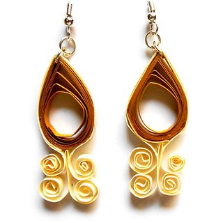 Beautiful Paper Quilling Earrings Multicolor