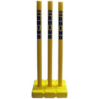 Rhino Top Quality Plastic Moulded Cricket Stump Set-set Of 3 Stumps, Stump Stand