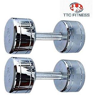 TTC FITNESS STEEL DUMBELL 8KG(4 KG EACH)