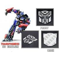 Transformer Autobot 3D Chrome Badge Logo Sticker Bike Car Racing Optimus Prime