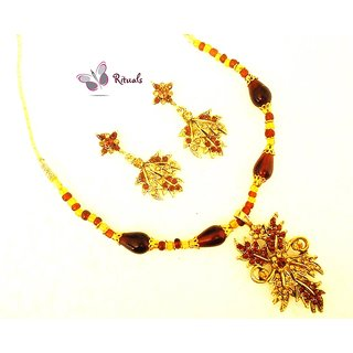 EXCLUSIVE DESIGNER KUNDAN 3 PIECE NECKLACE SET