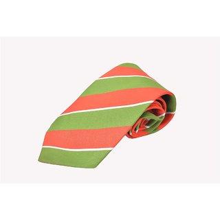 Dark Pink & Green Bold Stripe Tie