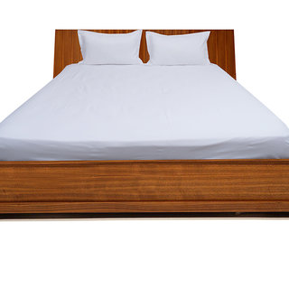 Smooth Cotton 500 Tc Large Solid Bed Sheet (SLL3BS121500)