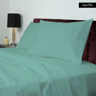 Smooth Cotton 500 Tc Large Solid Bed Sheet (SLL3BS104500)