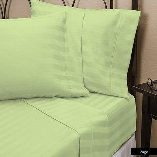 Smooth Cotton 500 Tc Large Stripe Bed Sheet (STL3BS141500)