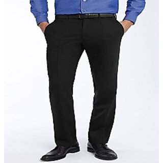 Men's Viscose Formal Trousers Black