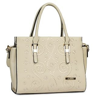 White Shade PU Made Handbag (ALONZO0132)
