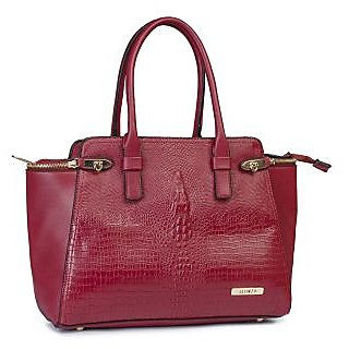 Red Shade PU Made Handbag (ALONZO0133)