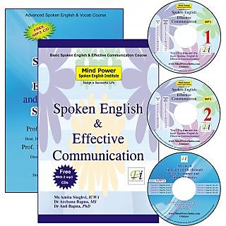 Spoken English, Effective Communication & Phonetics (2 Book & 3 MP3 CDs)