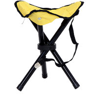 Folding Small Cone Seating Chair - Yellow