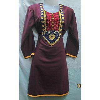 WINTER Trendy,fashionable, designer, THERMAL WEAR,WOOLLEN ladies kurta size 42""