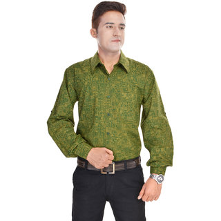 Kalrav Fashion Green printed Cotton Shirt