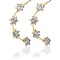 The Pari Gold Plated  Gold Cuff Earrings For Women
