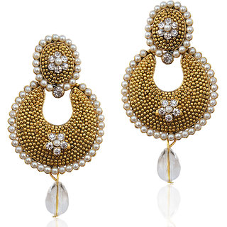 The Pari Non Plated White Alloy Studs For Womens