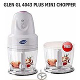 Glen Mini Chopper GL 4043 MC Plus (White) With Extra Bowl
