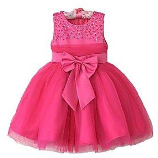Candy Floss Girls Party Wear Dress Pink