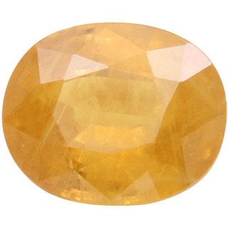 Vardan Gems 4.1 Oval Carat Yellow Sapphire (Pukhraj) Birthstone