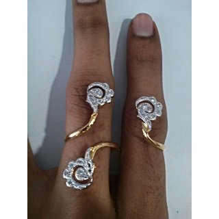 A.D Special Ring Fashion Material Alloy,Cubic Zirconia Colour Golden,White