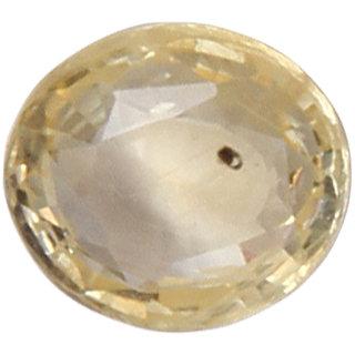 Vardan Gems 3.1 Cushion Carat Yellow Sapphire (Pukhraj)