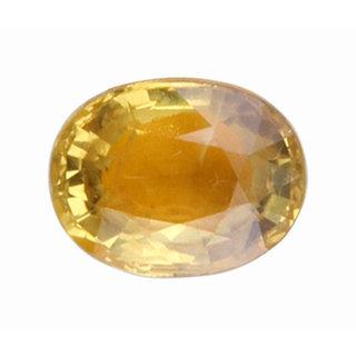 Vardan Gems 3.26 Oval Carat Yellow Sapphire (Pukhraj) Birthstone Gemstone