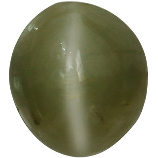 Vardan Gems 3.96 Oval Carat Cats Eye (Lehsunia) Birthstone Gemstone
