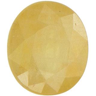 Vardan Gems 3.14 Oval Carat Ceylon Yellow Sapphire (Ceylon Pukhraj)