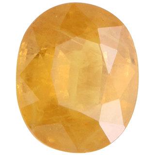 Vardan Gems 2.97 Oval Carat Yellow Sapphire (Pukhraj) Birthstone Gemstone