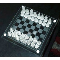 Wonderful Elegant Glass Chess And Checker Board Best Handy Set Elegant Chess