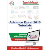 Advance Office Tutorial-Advance Excel, Excel Formulas Excel Tips And Tricks Video Tutorials DVD By Zoomla Infotech (Hindi-English Mix Language DVD)