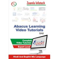 Abacus Learning Pack With Abacus Kit Video Tutorials DVD By Zoomla Infotech (Hindi-English Mix Language DVD)
