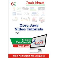 Core Java Video Tutorials DVD By Zoomla Infotech (Hindi-English Mix Language DVD)