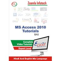 MS Access 2010 Pack Video Tutorials DVD By Zoomla Infotech (Hindi-English Mix Language DVD)