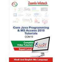 Core Java+MS Access 2010 Video Tutorials DVD By Zoomla Infotech (Hindi-English Mix Language DVD)