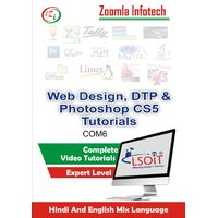 DTP +Web Designing +Photoshop CS5 Video Tutorials DVD By Zoomla Infotech (Hindi-English Mix Language DVD)