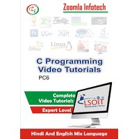 C Programming Video Tutorials DVD By Zoomla Infotech (Hindi-English Mix Language DVD)
